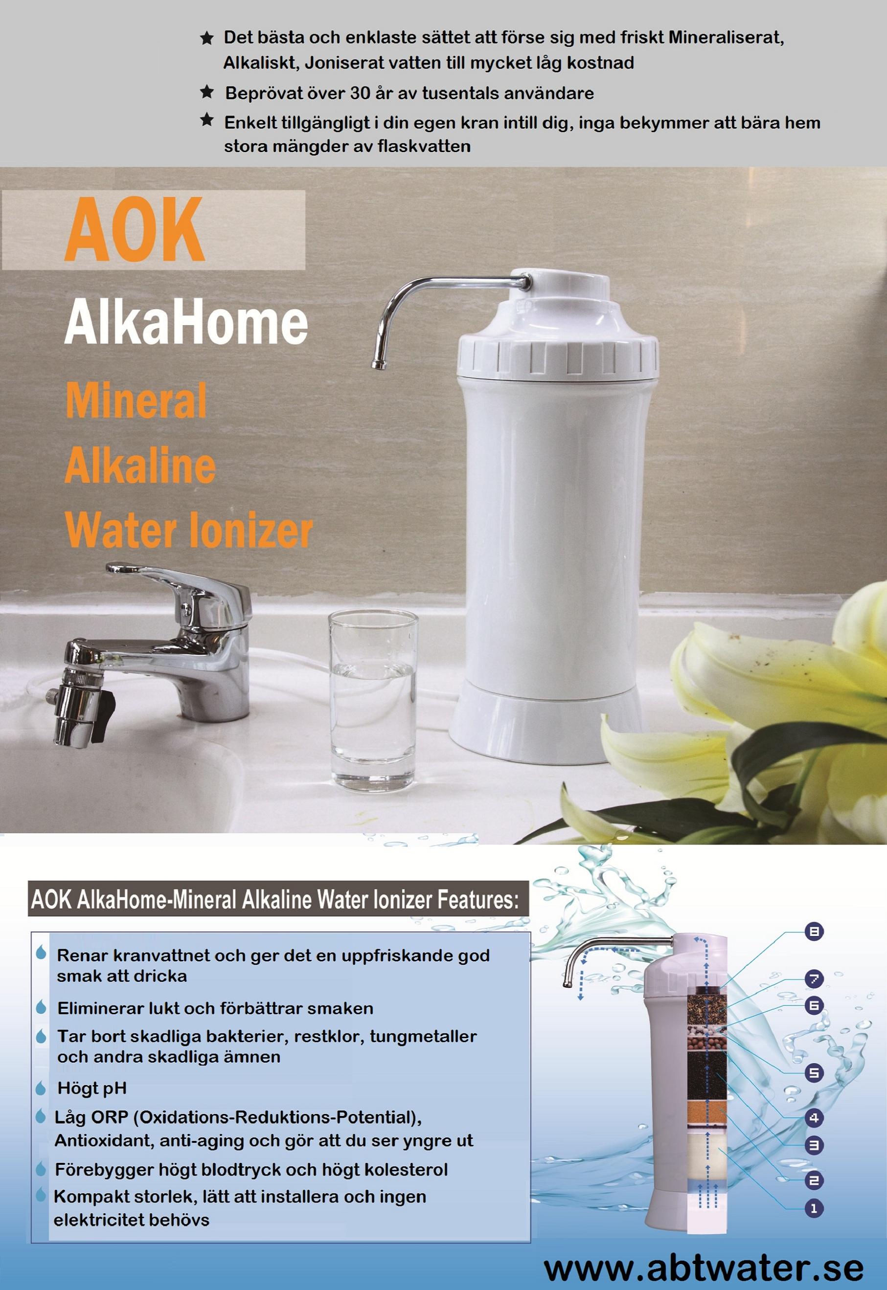 Fräscha Vattenfilter för dricksvatten, Alkalizer AOK-909 - WV-18